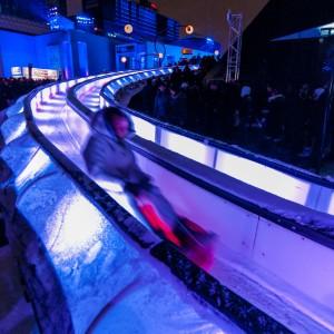 Ice Slide at Place Des Arts