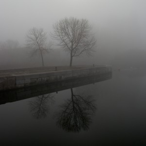 Part of a series of the old port of Montreal taken on a remarkably foggy morning.