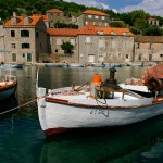 An idyllic fishing village on an island off the shore of Dubrovnik, Croatia.