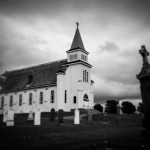 St. Peters Roman Catholic Church in St. Peters Bay, PEI. Emulating pinhole camera style.