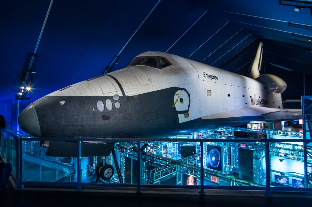 The space shuttle Enterprise, housed at the Intrepid museum