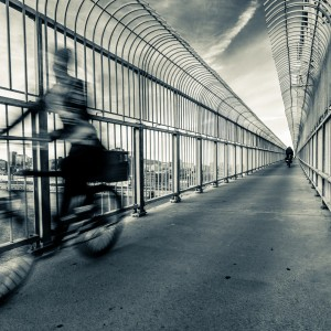 Bicycles on the Jacques Cartier Bridge